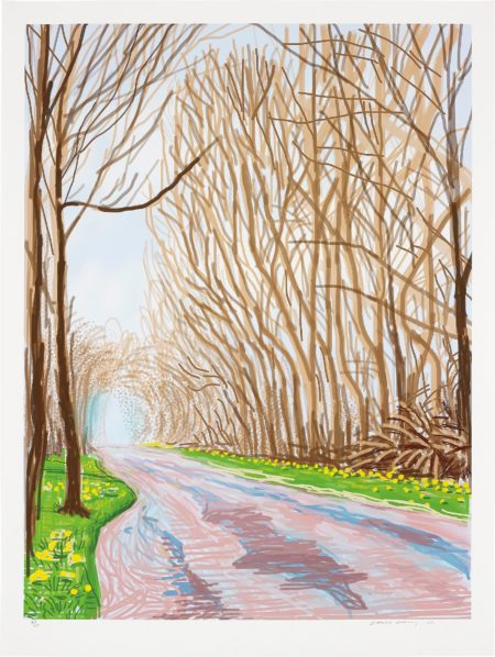 David Hockney-1 April, from The Arrival of Spring in Woldgate, East Yorkshire in 2011 (twenty eleven)-2011