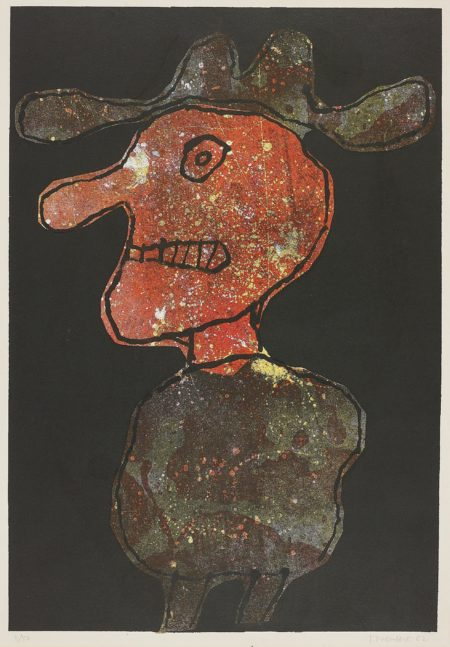Jean Dubuffet-Personnage au Chapeau (Person in Hat)-1962