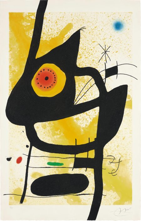 Joan Miro-La Femme des sables (Woman in the Sand)-1969