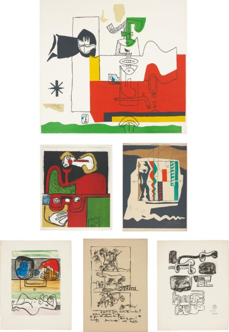 Le Corbusier-Totem; Portrait; Modular; Unite: two plates; and Don Quijote-1965