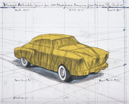 Christo and Jeanne-Claude-Wrapped Automobile (Project for 1950 Studebaker Champion Series 9G Coupe)-2015