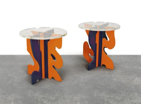 Guy de Rougemont-Tabourets Quadrilles (Stools) (Two Works)-2012