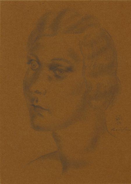 Tsuguharu Foujita-Portrait De Femme (Maryse Pila)-1928