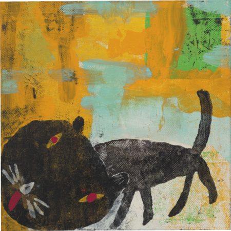 Yoshitomo Nara-Die Schwartze Catze (The Black Cat)-1993