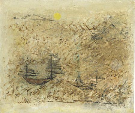 Zao Wou-Ki-Les Bateaux-1950