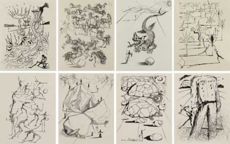 Salvador Dali-Poemes De Mao Tse-Toung (Set Of 8 Works)-1967