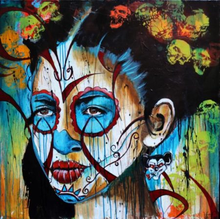 Kristx-Frida En Santa Muertée-
