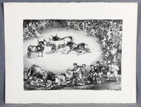Goya, Francisco De - Diversion de Espana. Los toros de Burdeos-1825