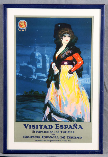 Spain Tourism Advertising Poster - Spain, a paradise for tourists-