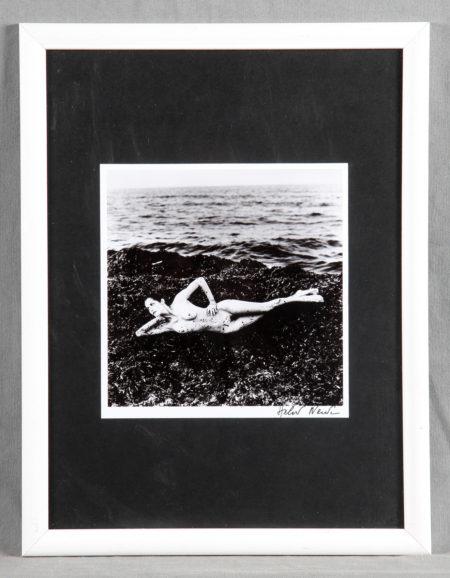 Helmut Newton-Nude in Seaweed, St. Tropez-