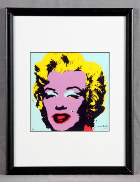 Andy Warhol-Marilyn Monroe. Portrait IX / X-