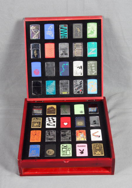 Zippo Lighter Collection With Display Case-