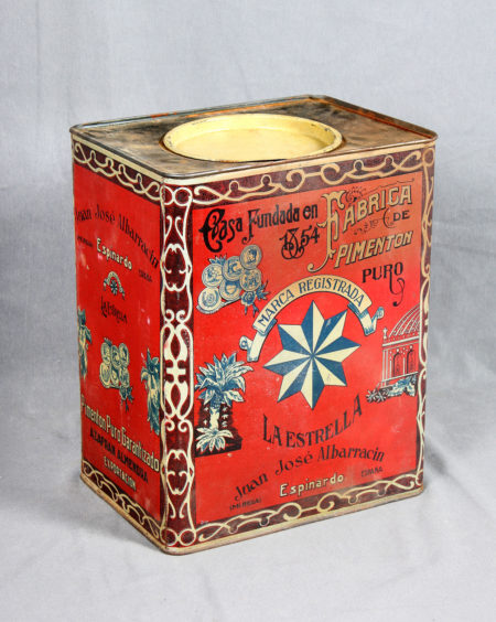An Antique Lithographed Tin Plate Box-