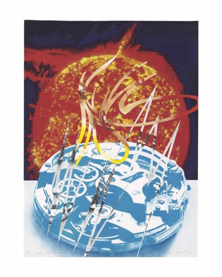 James Rosenquist-Sun Sets on the Time Zone, from Welcome to the Water Planet-1989