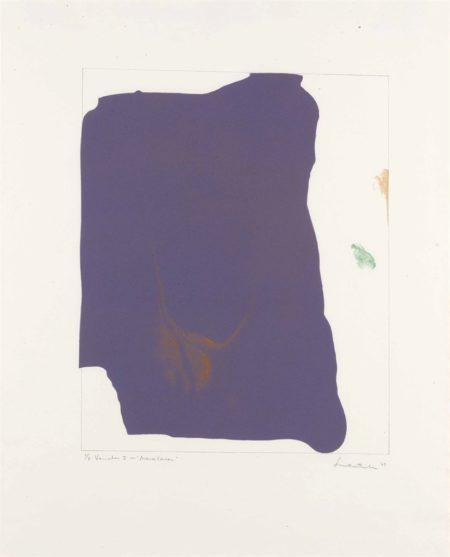 Helen Frankenthaler-Variation I on 'Mauve Corner'-1969