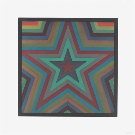 Sol LeWitt-Stars with Color Bands: one plate-1993
