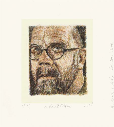 Chuck Close-Self Portrait/Scribble/Etching-2000