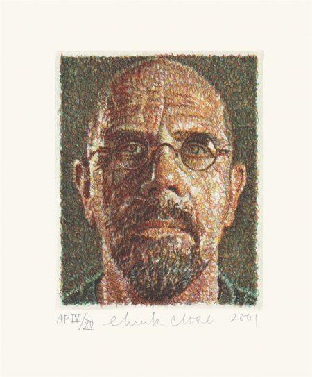 Chuck Close-Self-Portrait/Scribble/Etching-2001