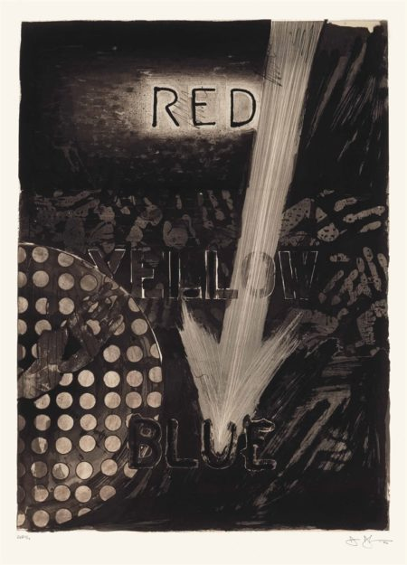 Jasper Johns-Untitled (Red)-1982
