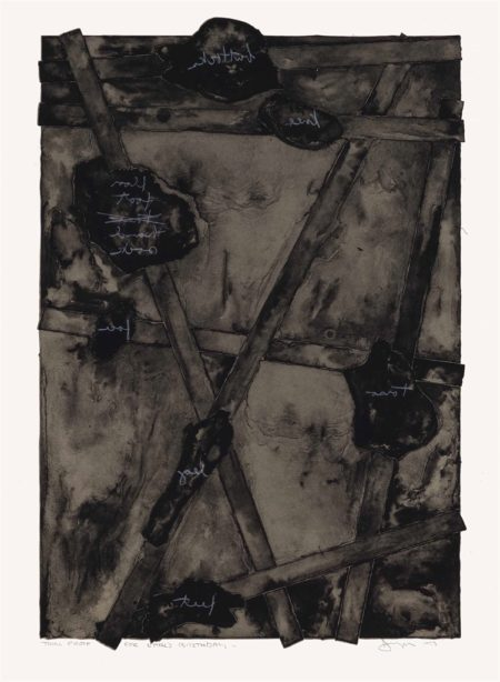 Jasper Johns-Sketch, from Untitled II-1974
