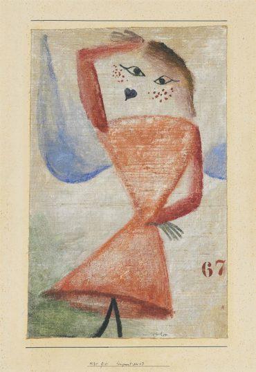 Paul Klee-Fragment Nr. 67 (Engel)-1930
