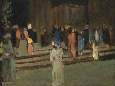 Wassily Kandinsky-Le Parc de Saint-Cloud, L'entree-1906