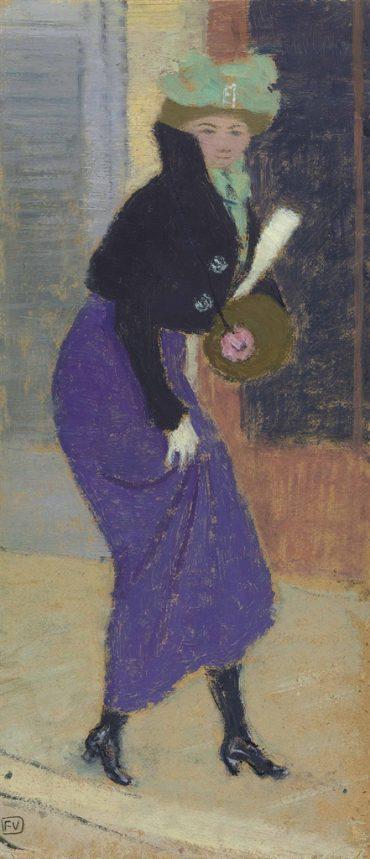 Felix Vallotton-Femme au manchon-1895