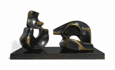 Henry Moore-Four Piece Reclining Figure-1972