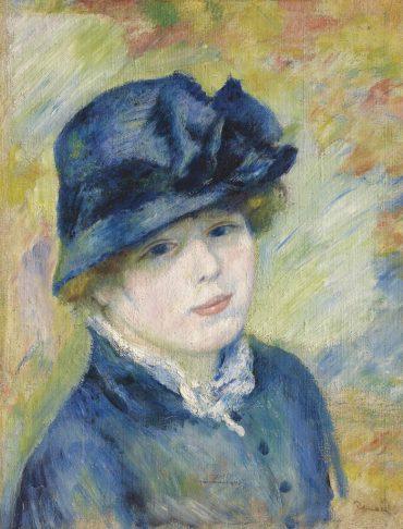 Pierre-Auguste Renoir-Femme au chapeau-1881