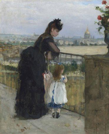 Berthe Morisot-Femme et enfant au balcon-1872