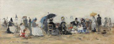 Eugene Louis Boudin-Scene de plage, Trouville-1874