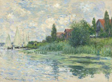 Claude Monet-Les bords de la Seine au Petit-Gennevilliers-1874