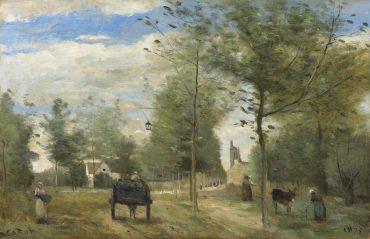 Jean-Baptiste-Camille Corot-Route aux abords d'une ville, dans la Brie-1874
