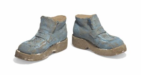 Sarah Lucas-Blue Suede Shoes-1996