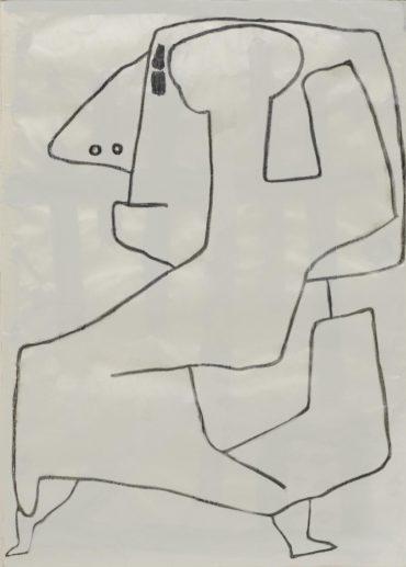 Paul Klee-Ohne Titel (recto); Ohne Titel (geometrische Komposition) (verso)-1940