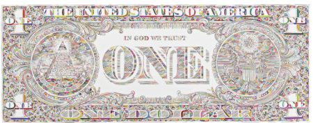 Tom Friedman-Untitled (Dollar Print, Back)-2011
