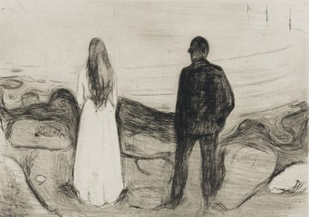 Edvard Munch-Two Human Beings (The Lonely Ones)-1895