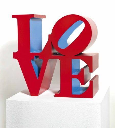 Robert Indiana-LOVE Red Outside Blue Inside-1995