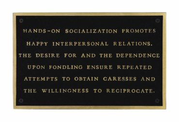 Jenny Holzer-Living: Hands on Socialization Promotes...-1982