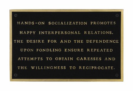 Jenny Holzer-Living: Hands on Socialization Promotes...-1982