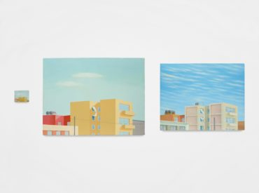 Francis Alys-Cityscapes - (con sabana), (Triptych: Francis - Juan Garcia - Emilio Rivera)-1993