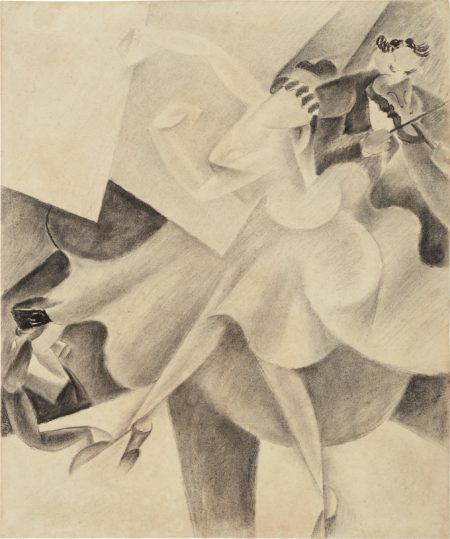 Gino Severini-Danseuse et violoniste-1915