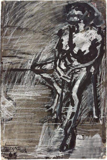 Frank Auerbach-Seated Figure I-1965