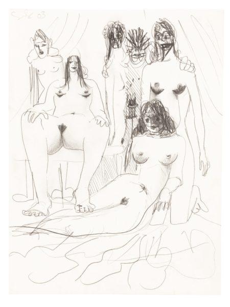 George Condo-Orgy Composition-2003