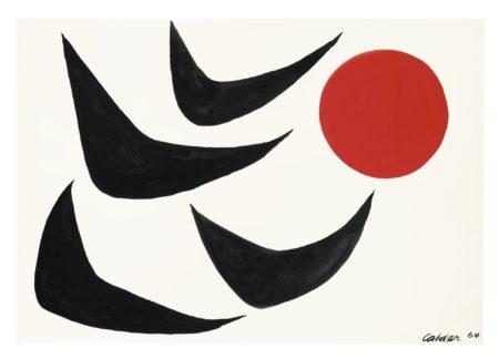 Alexander Calder-Boomerangs Flight-1964