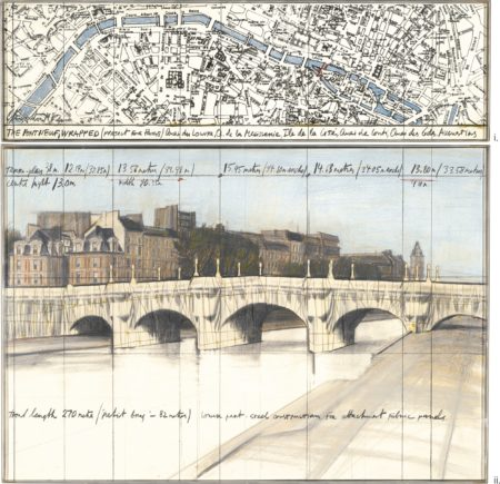 Christo and Jeanne-Claude-The Pont Neuf, Wrapped (Project For Paris)-1982