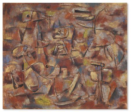 Willi Baumeister-Roter Rhythmus-1945