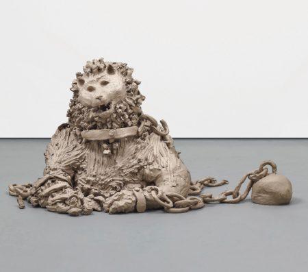 Urs Fischer-Lion in Chains-2014