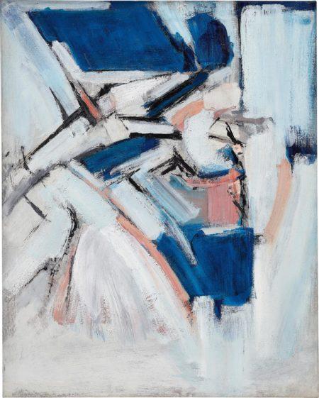 Adrian Heath-Pink Blue Abstract-1962