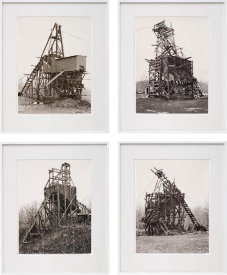 Bernd and Hilla Becher-Four works: (i) Zimmermann Coal Co., Ravine, Schuylkill Country; (ii) Scade Coal Co., Goodspring Mountains, Schuylkill Country; (iii) Scheib & Walacavage, No. 2, Joliett, Schuykill Country; (iv) Minnich Coal Co., Goodspring Mountains, Schuykill Country-1983